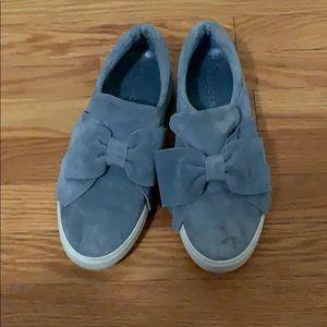 J-Slides suede slipon shoes
